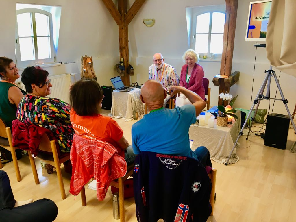 The Beautiful State workshop in Bavaria Germany was led by One Consciousness Transformers  Marianne and Gerd Janus. Experiences of transformation were deeply felt and expressed by everyone.